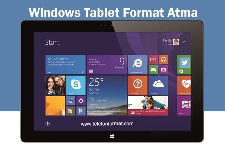 windows tablet format atma s f rlama hard reset tf. Black Bedroom Furniture Sets. Home Design Ideas