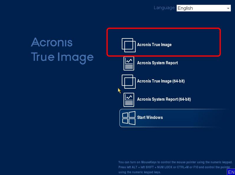 Acronis True İmage 2017 Kullanımı