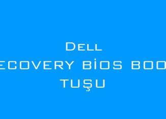 Dell Recovery bios boot tuşu