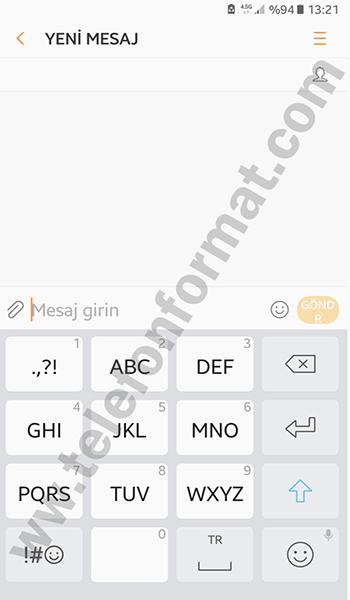 Android 7.0 Nougat Güncellemesi 3x4 Klavye Değişimi
