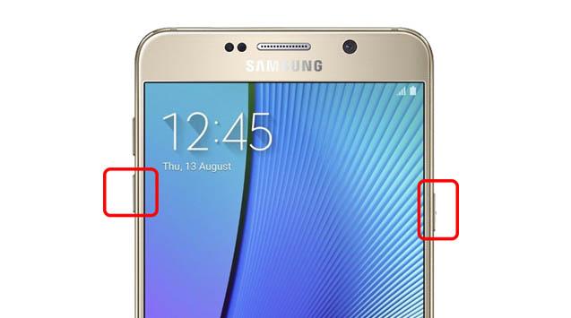 Samsung Galaxy note 5 kilitlendi