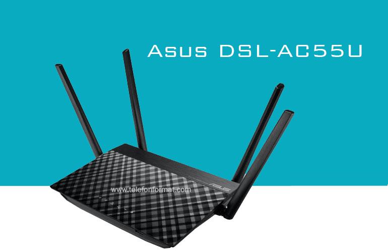 Asus DSL-AC55U Şifre Kablosuz Kurulum