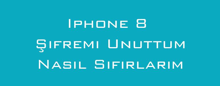 Iphone 8 Şifremi Unuttum Nasıl Sıfırlarım