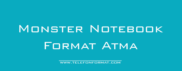 Monster Notebook Format Atma