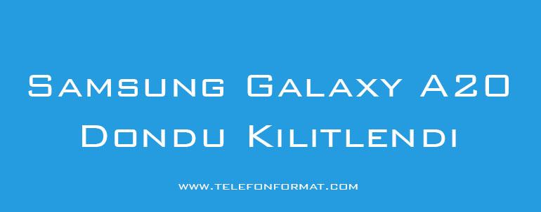 Samsung Galaxy A20 Dondu Kilitlendi
