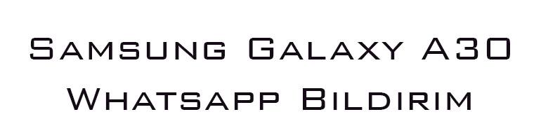 Samsung Galaxy A30 Whatsapp Bildirim