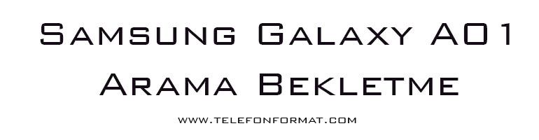 Samsung Galaxy A01 Arama Bekletme